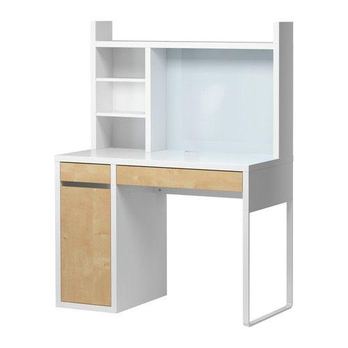Ikea Micke Desk With Hutch. Width: 41 3/8  Part 72