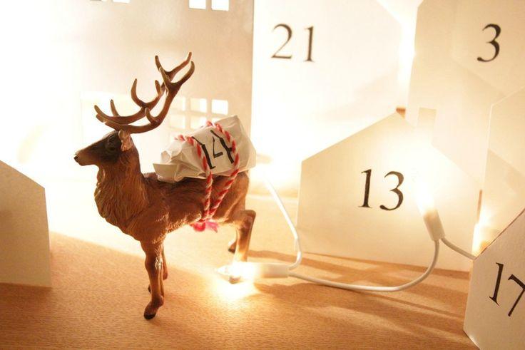 ou ma version du premier décompte des jours avant la venue du Père Noël pour Côme... Pour le premier mois de décembre