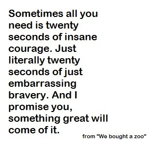 we bought a zoo 20 seconds of courage ending relationship
