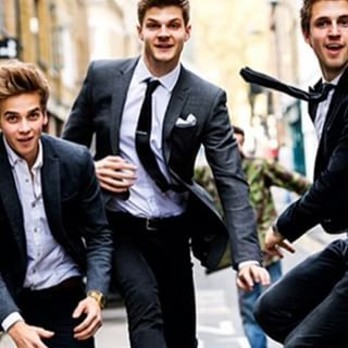 Instagram photo by joe_sugg - It's hard to lark about with @jimstweetings & @marcusbutler when you're dressed all smart
