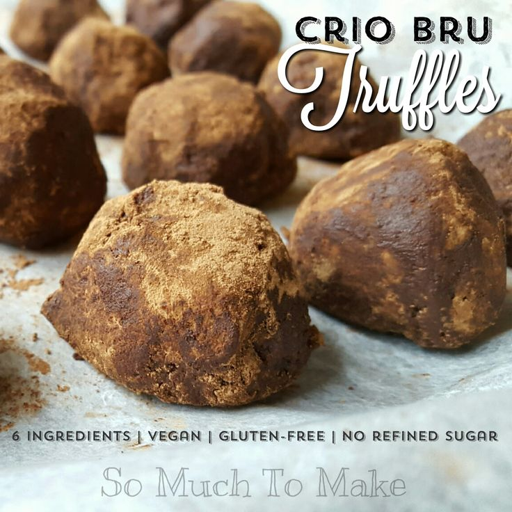 Crio Bru Truffles; Made of just 6 wholesome ingredients, these no-bake treats have Crio grounds, dates, coconut oil, and nuts. Super for a healthy, energizing snack!