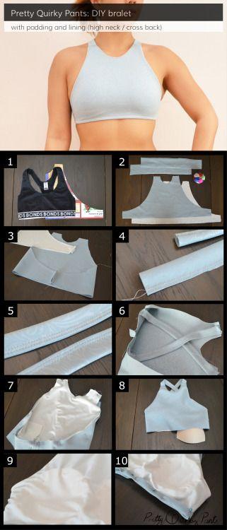DIY Custom Sports BraMake a sports bra that comfortably fits you… (TrueBlueMeAndYou: DIYs for Creative People)