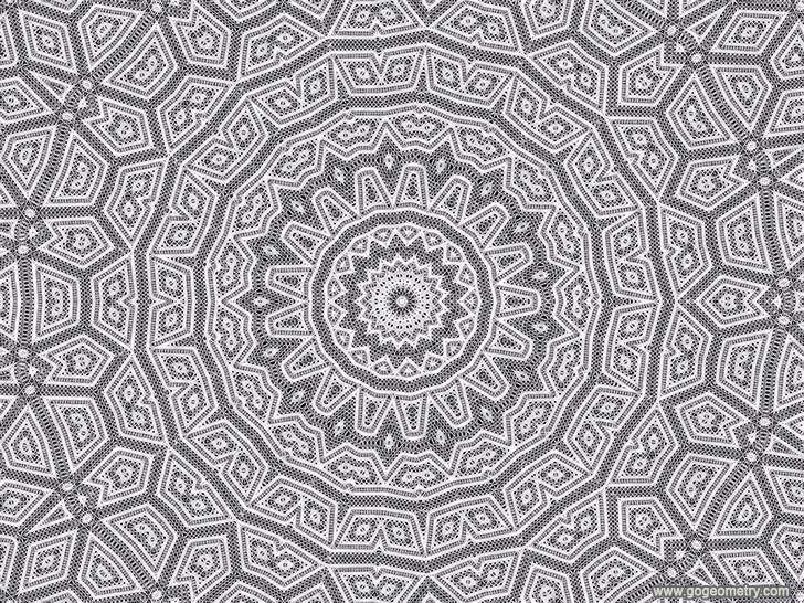 Cool String Art Stitching Geometric Pattern Symmetry Software