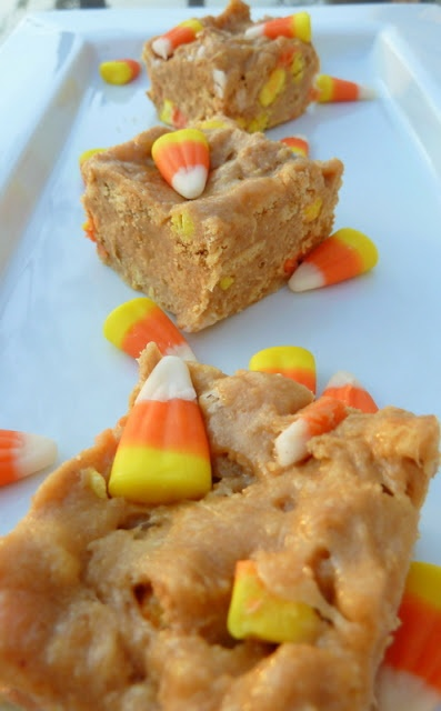 chewy candy corn nutter butter bars {making these tonight for a little ...