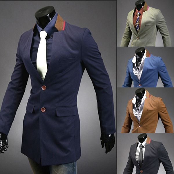 Neat lapels, same shape, but not cut to fold.  Don't like the two-tone of it, but I like the idea.