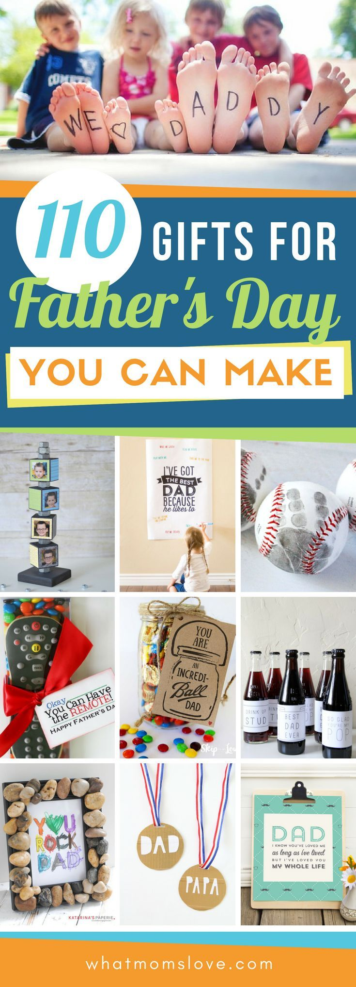Best DIY Fathers Day Gift Ideas from kids | Easy crafts, free printables, meanin...