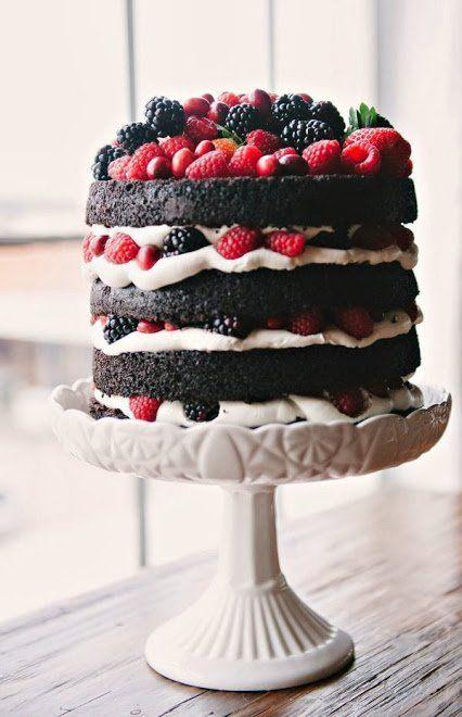 Tap Naked chocolate fruits layered cake
