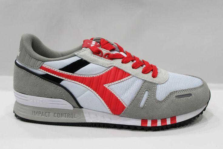 Scarpe Diadora TITAN II Shoes Sneakers Basse Unisex Bianco Rosso