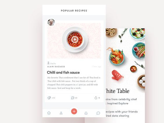 40 Inspiring examples of mobile feeds: