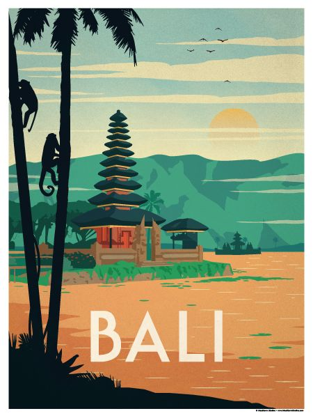 Bali Poster by IdeaStorm Studios. ©2016. Available now at ideastorm.bigcartel.com