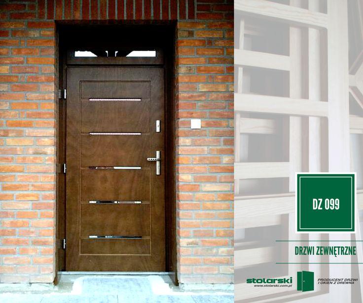 Drzwi zewnętrzne MODEL DZ 099 #drzwidrewniane #drzwizewnetrzne #door #wood #stolarnia #drzwimarzeń #realizacje www.stolarski.com.pl