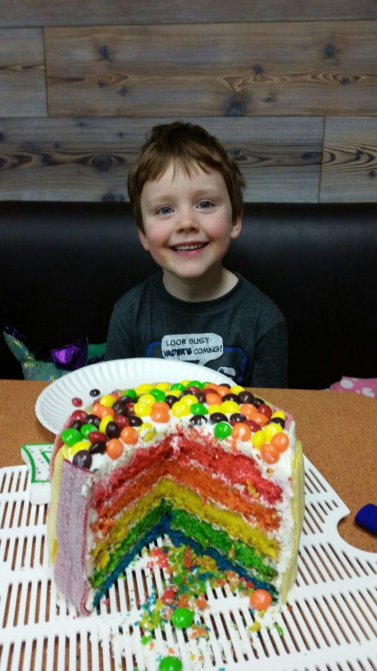 Rainbow Skittles Cake