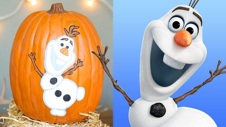 Frozen Pumpkin Painting | Disney DIY - Perfect for Disney's Frozen fans at Halloween!