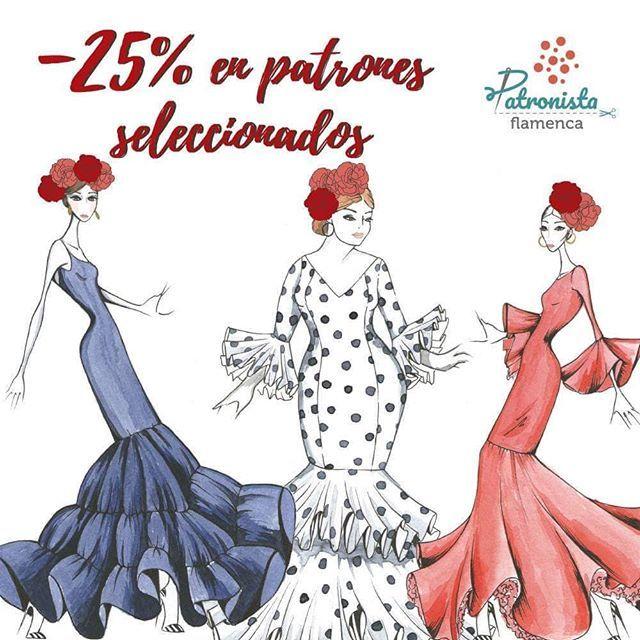 Habéis visto que patrones de trajes de flamenca tienen descuento ...