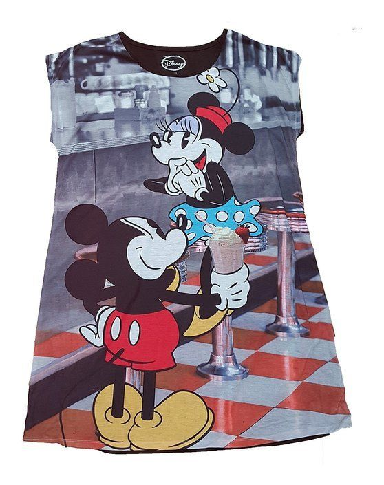 12 best Sleep   Lounge images on Pinterest   Lounges  Lounge and      19   Disney Mickey   Minnie Mouse Soda Shop Nightgown Long Sleepshirt   disney
