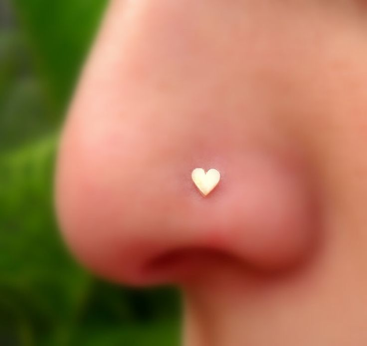 Nose Ring Stud - Tragus Earring - Cartilage Earring - 14K Solid Rose Gold Heart Nose Stud - Nose Piercing by Holylandstreasures on Etsy https://www.etsy.com/listing/173329376/nose-ring-stud-tragus-earring-cartilage