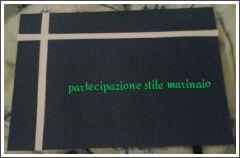 """esempio partecipazione stile marinaio - example announcement in """"marine"""" style      (blue like water)    mine"""