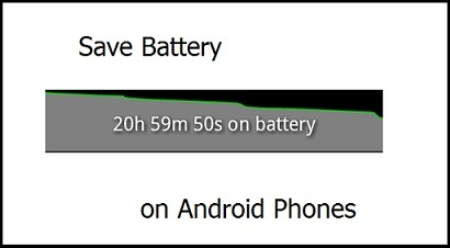 Save battery on Android phones: http://seekyt.com/how-to-save-battery-on-android-phones/