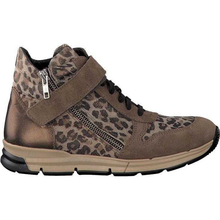 Clic! Bruine Sneakers Tijgerprint