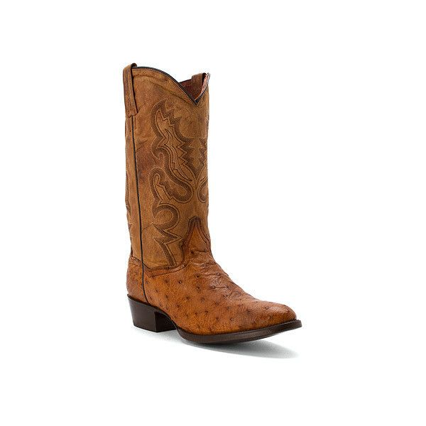 Dan Post Tempe Cowboy Boot Boots ($470) ❤ liked on Polyvore featuring men's fashion, men's shoes, men's boots, brown, mens ostrich cowboy boots, mens brown shoes, mens slip on boots, mens ostrich boots and mens slip on shoes