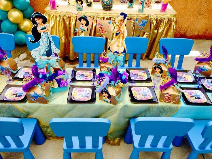 Jasmine Aladdin Birthday Party Ideas