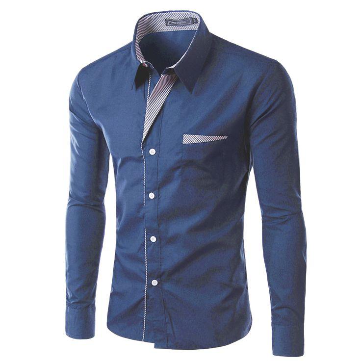 2016 neue Mode Marke Camisa Masculina Langarm-shirt Männer koreanische Dünne Design Formale Casual Male Shirt Größe M-4XL 8012