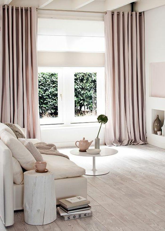 rosa-moderne-gardinen-für-wohnzimmer-elegantes-Interieur ...