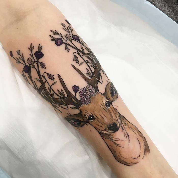 Toller Körper – Tattoos – Natur inspiriertes neo-traditionelles Tattoo …   – …