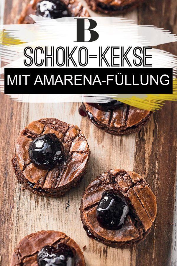 Weiche Schoko Plätzchen Mit Amarena Füllung Rezept Plätzchen