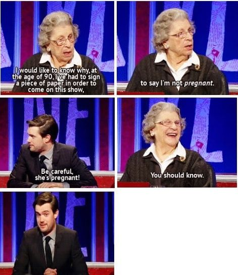 During her appearance, she teased Jack Whitehall… | Community Post: 12 Reasons To Love Baroness Trumpington