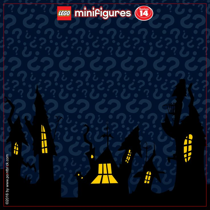 LEGO Minifigures Display Frame - Series 14 Monsters - Background 230mm Logo Top…