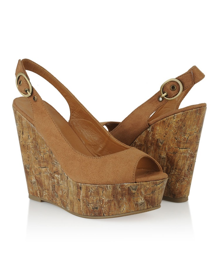 Peep Toe Wedge Slingbacks | Forever21 | $26.80 - also available in black