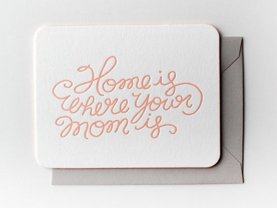 Etsy Home is where your mom is Mother's Day card