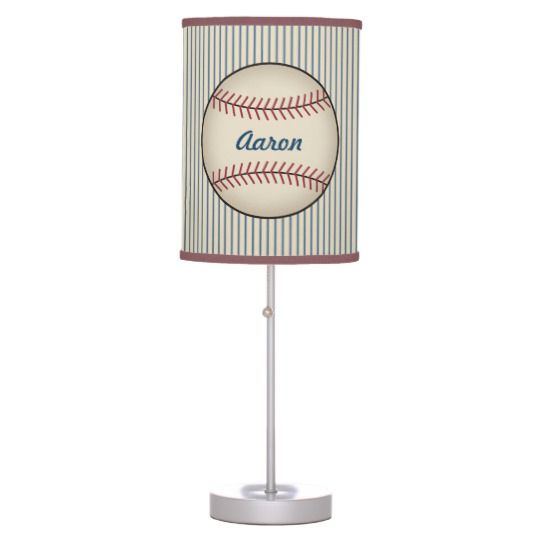 Kids Name Sports Baseball Decor Bedroom Lamp
