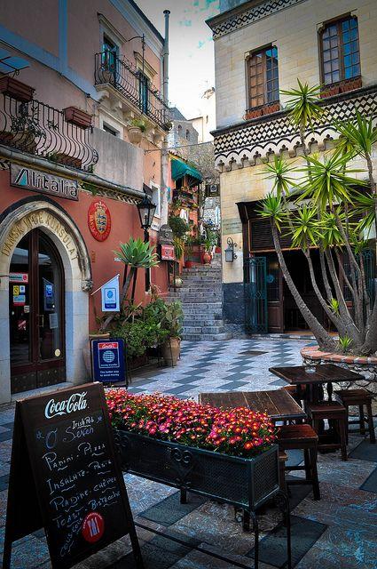 Central Taormina, Sicily, Italy.
