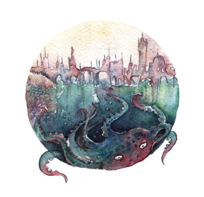 """Зеленые воды Ишмы"" Макс Фрай. by http://ladyninka.deviantart.com"
