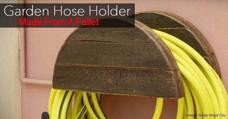 pallet garden hose holder