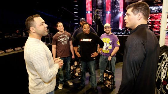Santino Marella meets Superstars for Sandy Relief auction winners