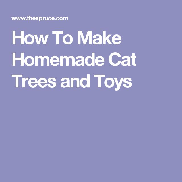 How To Make Homemade Cat Trees and Toys