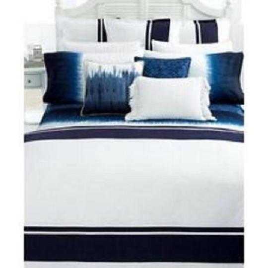 Item number- 381328421536 LAUREN RALPH LAUREN Indigo Modern Ombre King Pillow Shams (2) NIP 284.00 Retail  #RalphLauren