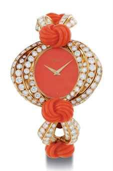 Gold Coral Diamond watch by Piaget