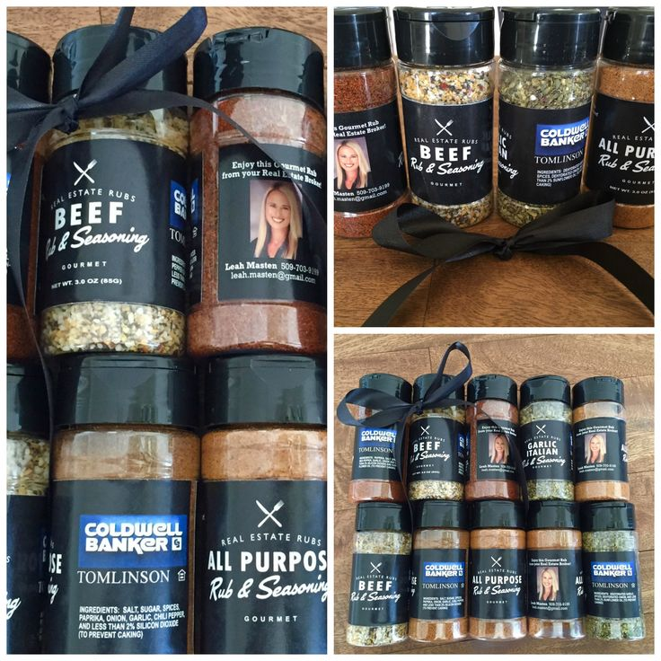 Custom promotional items for realtors. Spice up your marketing with seasonings that come with your photo, logo and contact information.