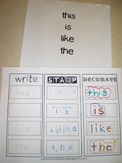 like this idea  :)Sight Words, Kindergarten Literacy Centers, Words Practice, Words Work, Alphabet Activities, Word Work, Bremer Kindergarten, Sight Word Activities, Literacy Centre