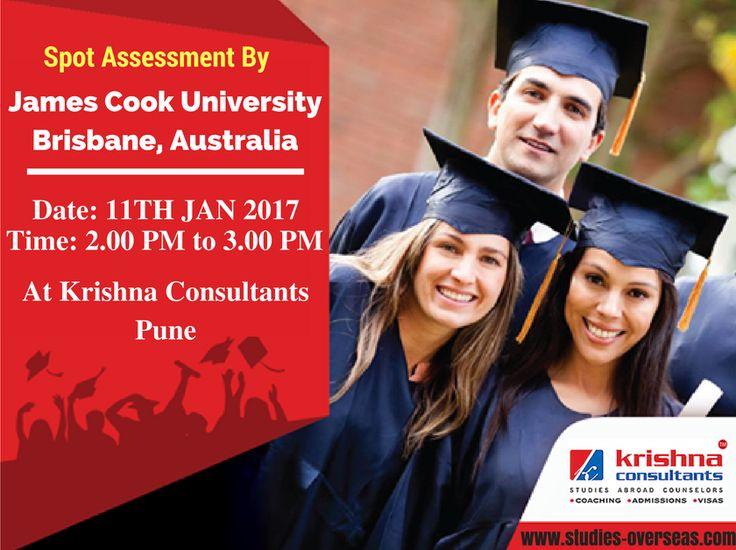 Spot Assessment By James Cook University Brisbane, #Australia on 11th Jan 2017 at Krishna Consultants #Pune. #studyabroad