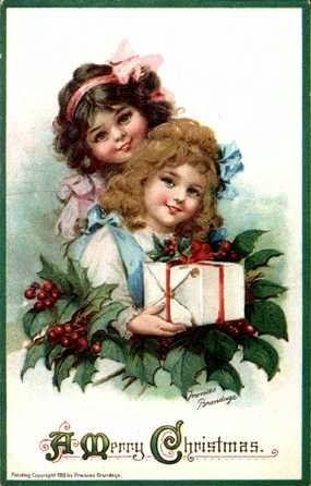1904 Frances Brundage Christmas Postcard ~ WhimsyDust Affair