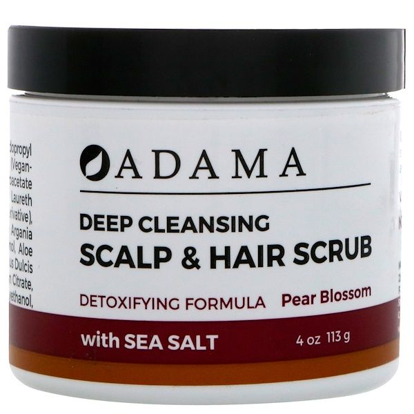 Zion Health Deep Cleansing Scalp Hair Scrub Pear Blossom With Sea Salt 4 Oz 113 G Skrab Dlya Kozhi Golovy Kozha Golovy Volosy