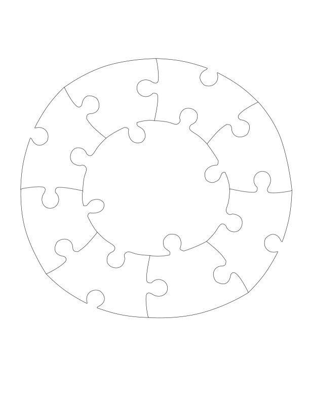 Jigsaw Puzzles Circle Puzzle Pattern