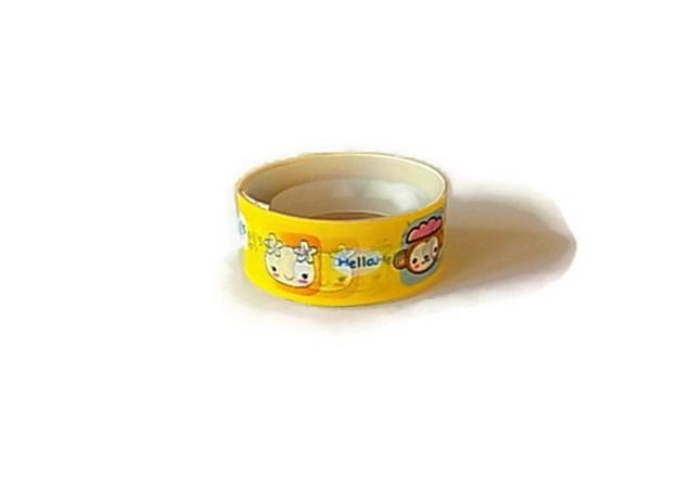 Masking tape kawai animaux fond jaune X 2.30 m M127 scrapbooking : Masking tape par mamiechantal-screations