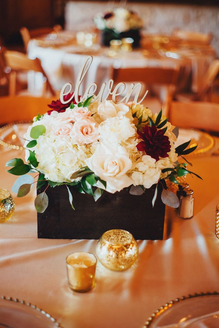 Flower table decorations for weddings - Diy Wooden Flower Box Centerpieces
