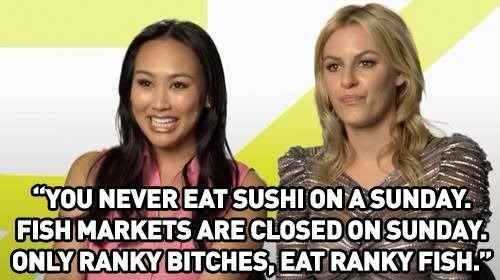 """On sushi:   12 Gems Of Truth From The """"Rich Kids Of Beverly Hills"""""""